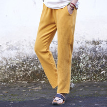 2018 spring summer women's casual trousers cotton linen all-match women's ankle length straight pants 7 colors pantalones mujer