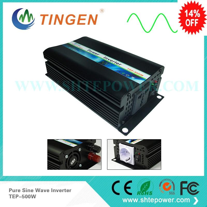 цена на Pure sine wave 500W inverters free shipping DHL fedex DC 12v 24v 48v input AC110v 220v output