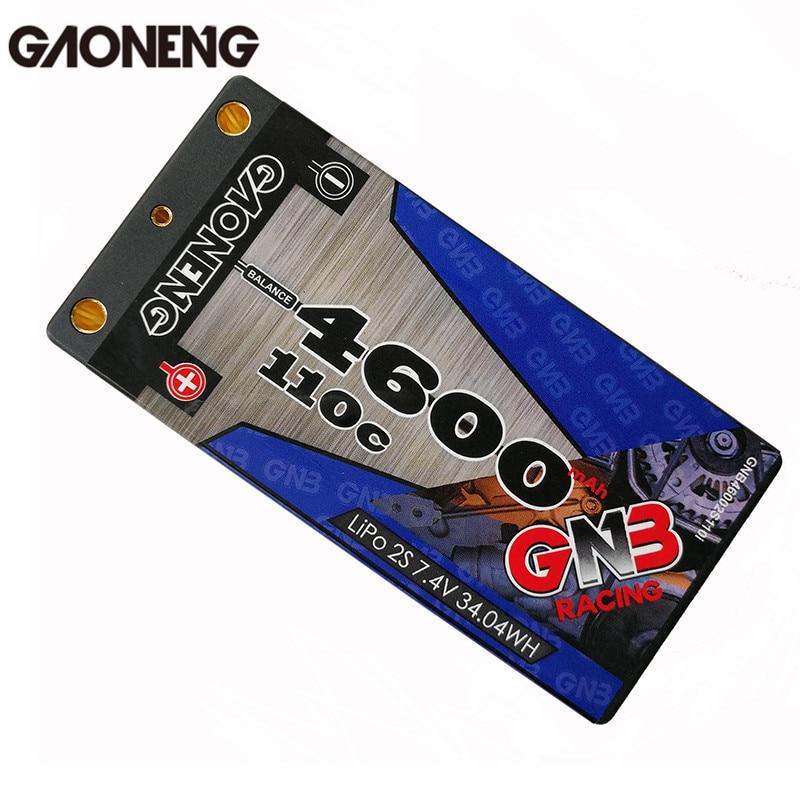 Newest Gaoneng GNB 7.4V 4600MAH 2S 110C Lipo battery T Plug For RC Car Toys Models Spare Parts 1s 2s 3s 4s 5s 6s 7s 8s lipo battery balance connector for rc model battery esc