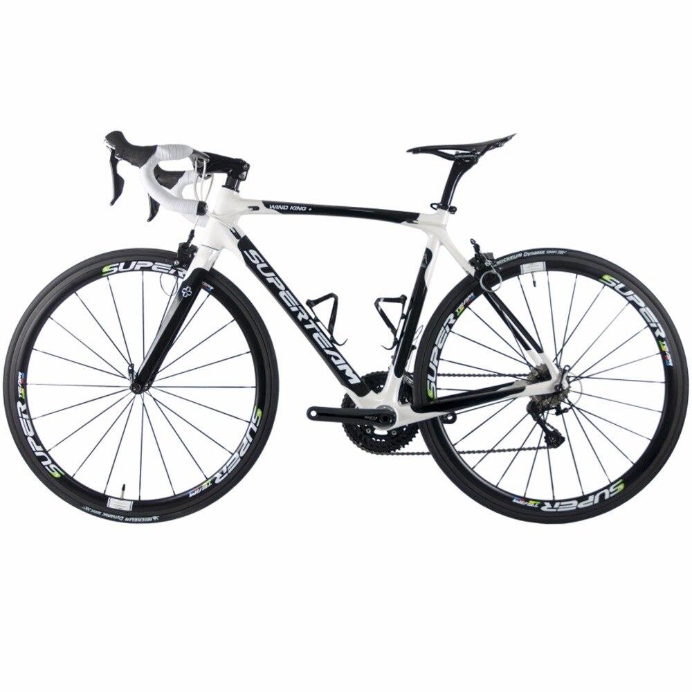 Superteam 700C vélo de route vélos en carbone Shimano 5800 105 groupe paire de roues en Fiber de carbone/tige de selle/fourche 22 vitesses Bicicleta
