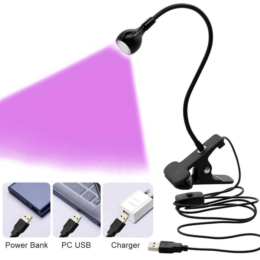 Светодиодный настольный ультрафиолетовый свет лампа USB УФ для сушки гель-лака Лак лампа для сушки ногтей для DIY ногтей искусство для наличных медицинский продукт детектор