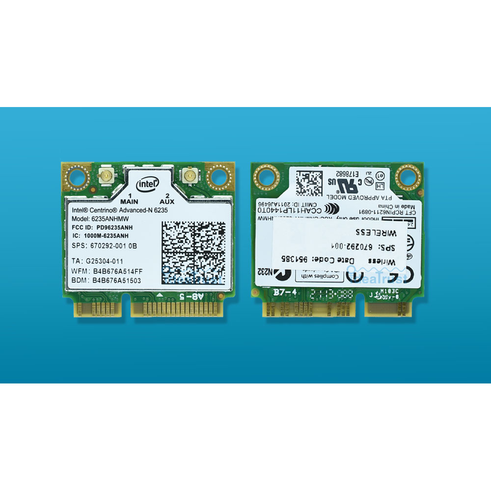 For Intel Centrino Advanced-N 6235 6235ANHMW Intel 6235n  802.11abgn 300Mbps BT4.0 WiFi Wireless Network Card For HP Laptop