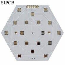 SJPCB الألومنيوم الأبيض سطح LED مجلس النموذج كمية صغيرة مقبولة رخيصة الثمن عالية الجودة PCB مدينة شنتشن المورد