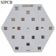 SJPCB placa LED de superficie blanca de aluminio, prototipo de pequeña cantidad, precio barato, alta calidad, PCB, proveedor de Ciudad de Shenzhen