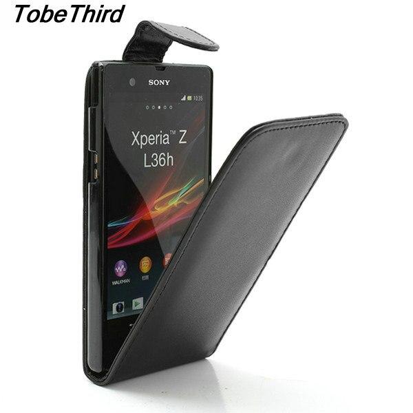 Pour Sony Xperia Z C6603 Cas Vertical Flip PU Étui En Cuir pour Sony Xperia Z C6603 C6602 L36h HSPA + LTE