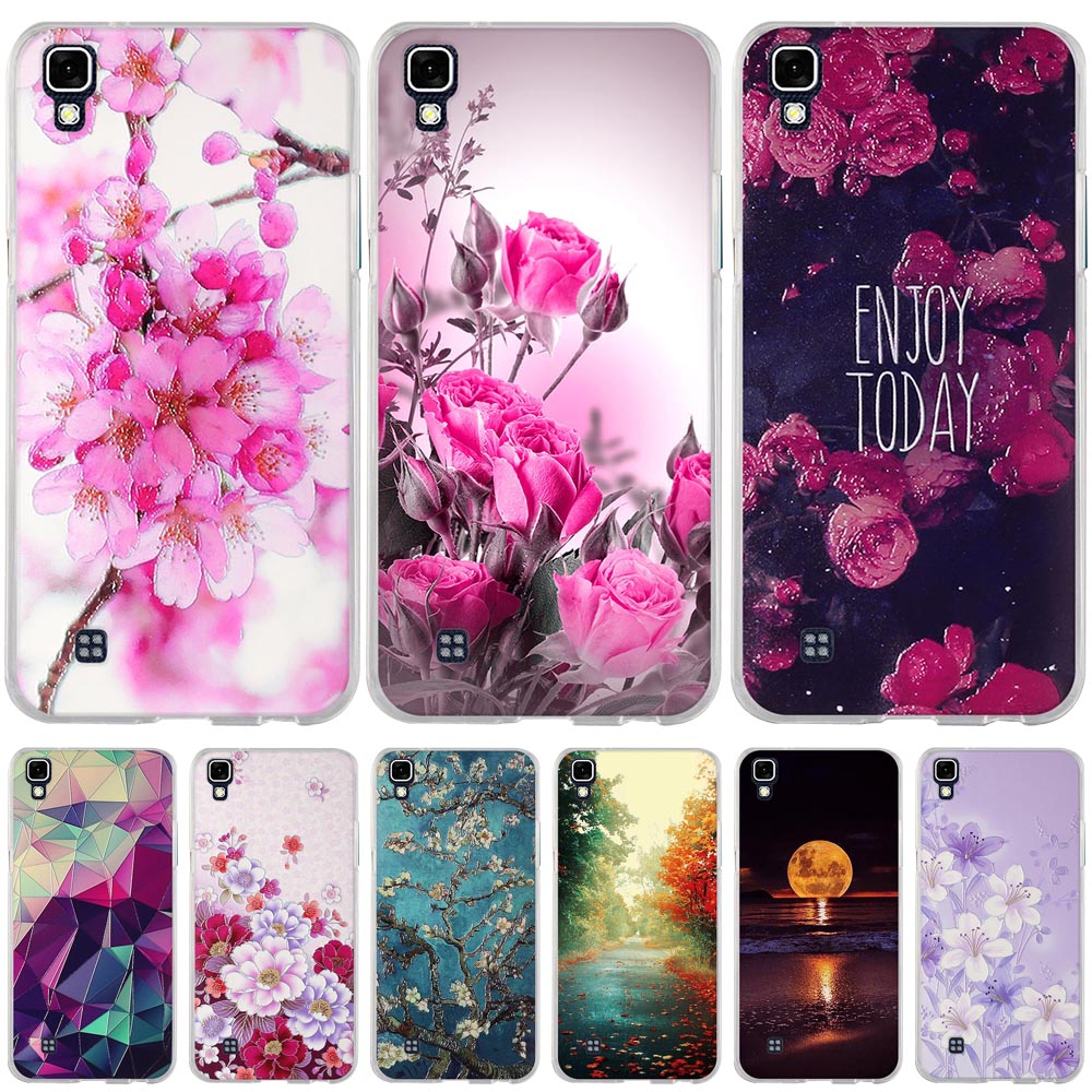 new style 8831f b9cb3 US $0.94 15% OFF|Soft TPU Cases For LG X power K210 K220 LS755 Cases Flower  Girl Back Cover Skin For LG X Power K220DS Bags 3D Relief Fundas Capa-in ...
