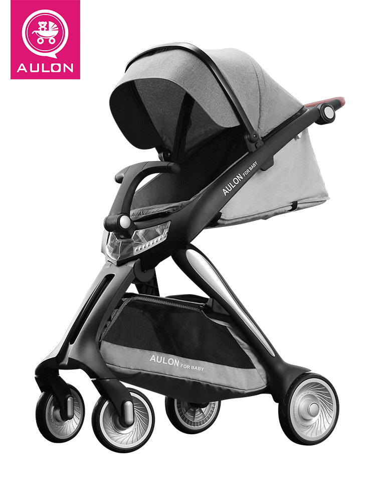 European high landscape stroller baby can sit reclining trolley high quality lightweight folding four wheel cart