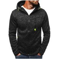 2018 New Spring Fleece Hoodies Men Fashion Solid Sweatshirts Zipper Cardigan Cotton Sportswear Slim Fit Men