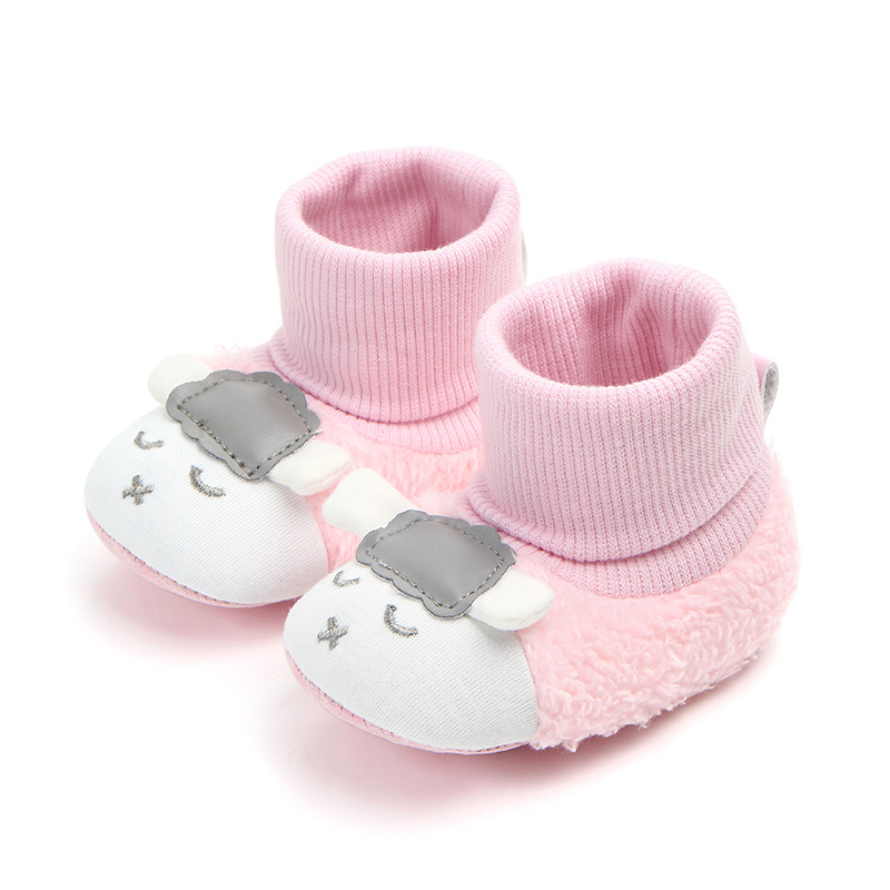 e39c5540e US $2.61 14% OFF|New Winter Baby boots Cute Fox Sheep Dog Animal girls Boys  knitting booties Super Keep Warm Infant Toddler shoes -in Boots from ...