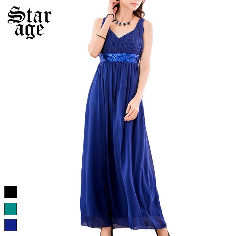 f1b5de6fc22 L-3XL Roma Style Sequined V-Neck Maxi Long Dinner Gown Big Size Ladies