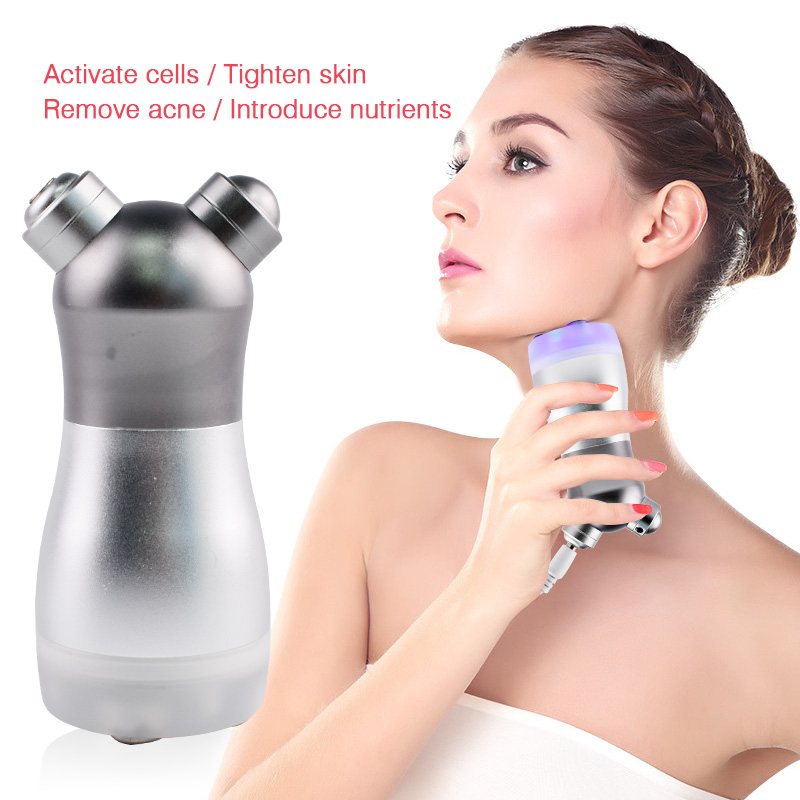 RF Radio Frequency No Needle Mesotherapy Mesoporation Facial Photon LED Light Skin Rejuvenation Face Lift Massager Beauty Care portable rf radio frequency skin rejuvenation beauty massager ems face lift led photon therapy beauty device