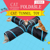 5 Holes Cat Tunnel Toys for Cats Toy Kitten Interesting Products Pet Products Interactive Cat Toy Supplies Rabbit Grams Kittens