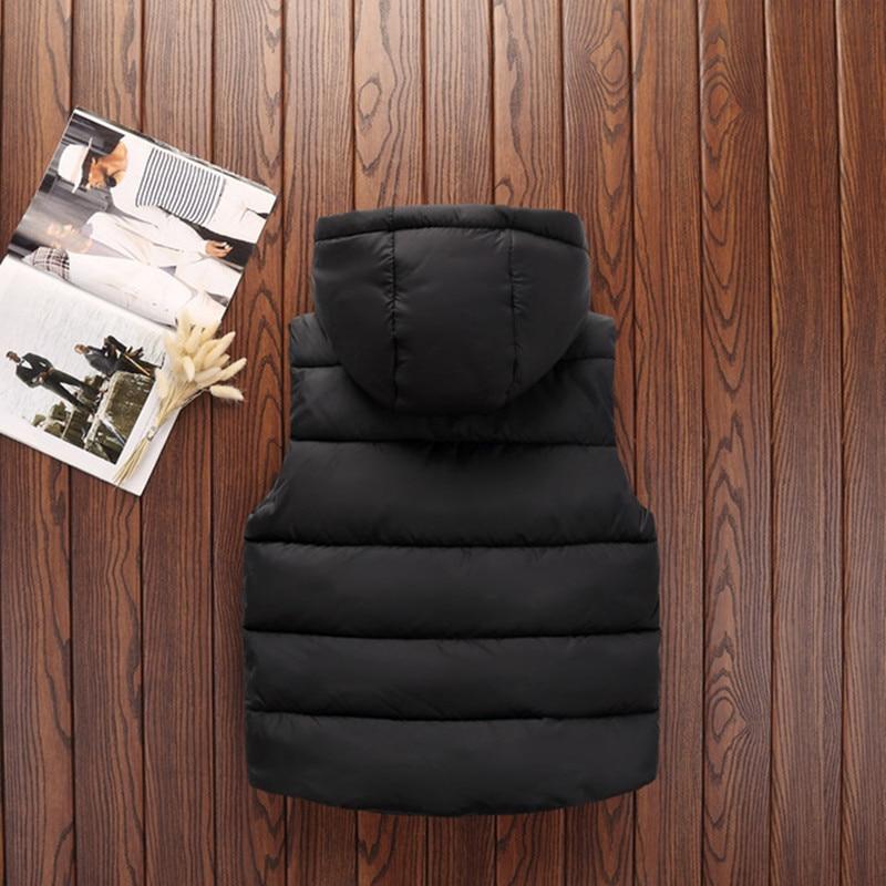 Autumn Children Warm Vest Kids Thicken Waistcoat Kids Outerwear Vest Children Clothing Teenager Boys Girls Hooded Jackets Vest (7)