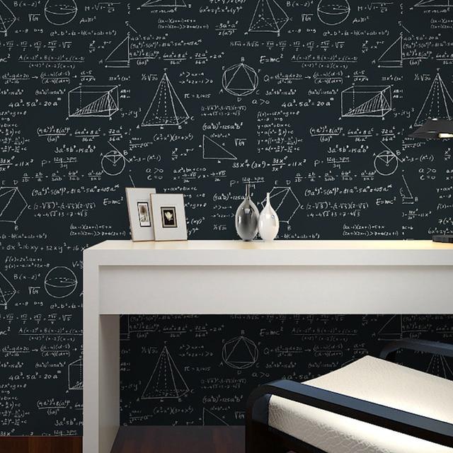Papier Peint Tableau Noir beibehang papier peint tableau noir géométrique formule mathématique
