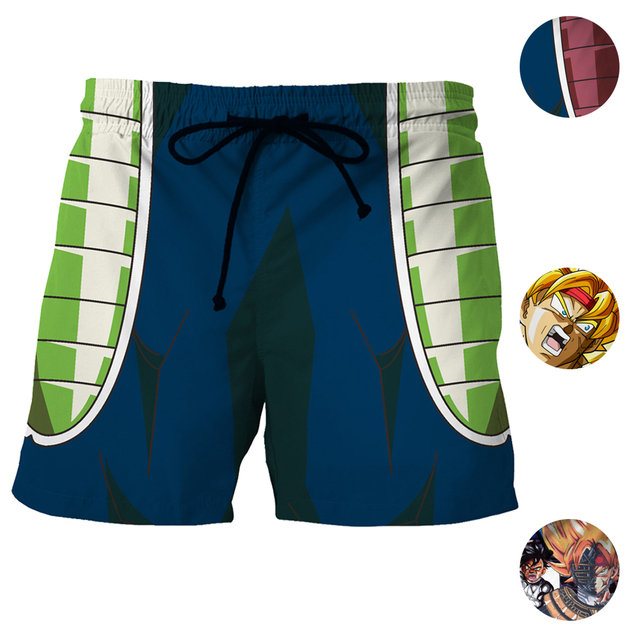 Goku Father Bardock Cosplay Men Short Pants Fitness Outwear Trunks  Swimwears Print Dragon Ball Z Bardock Beach Shorts Mesh f51d9b3b09a