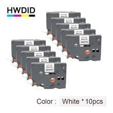 HWDID tze 231 TZ/TZe 231 형제 P 터치 프린터 라벨 메이커/테이프 12mm 검정색 흰색 tz/tze 231 tze/tz231 라미네이트 리본