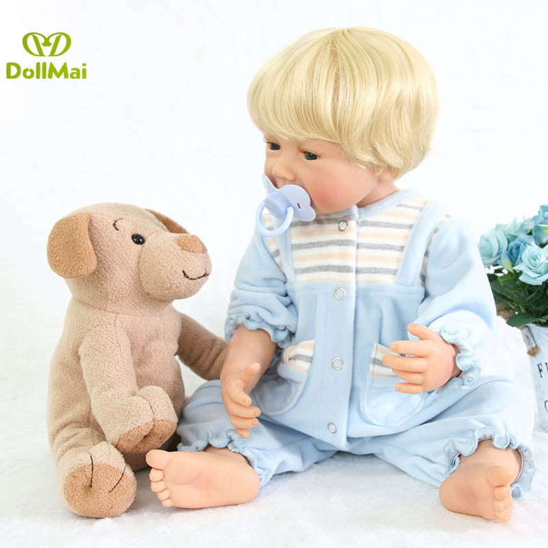 55cm Full Body Silicone Reborn Dolls Babies Boy 22'' Ethnic Dolls And Plush Doll Real Like Playmate For Kids Cosplay Party Toys
