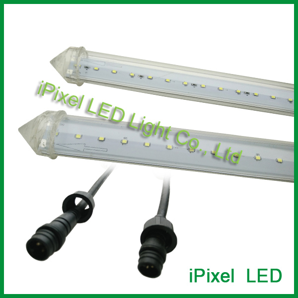 club led meteor shower light ,dmx led vertical pixel tube dc24v waterproof