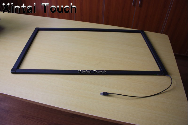 55 inch IR multi touch screen overlay, real 10 points industrial touch screen panel kit for monitor,Infrared touch screen frame 18 5 inch infrared 2 points monitor tv ir touch screen overlay