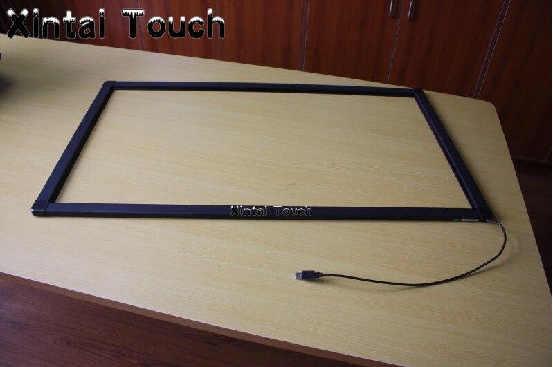 Superposition d'écran tactile multi d'ir de 55 pouces, vrai kit industriel de panneau d'écran tactile de 10 points pour le moniteur, cadre infrarouge d'écran tactile