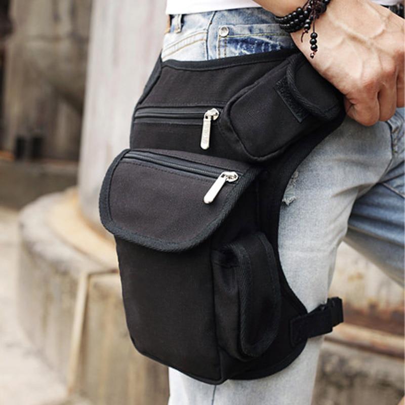 Άνδρες καμβά πτώση πόδι τσάντα μέση Fanny πακέτο μηρό ιμάντα ισχίου αγκίστρι στρατιωτική ταξιδιού πολλαπλών χρήσεων Messenger τσάντες ώμου