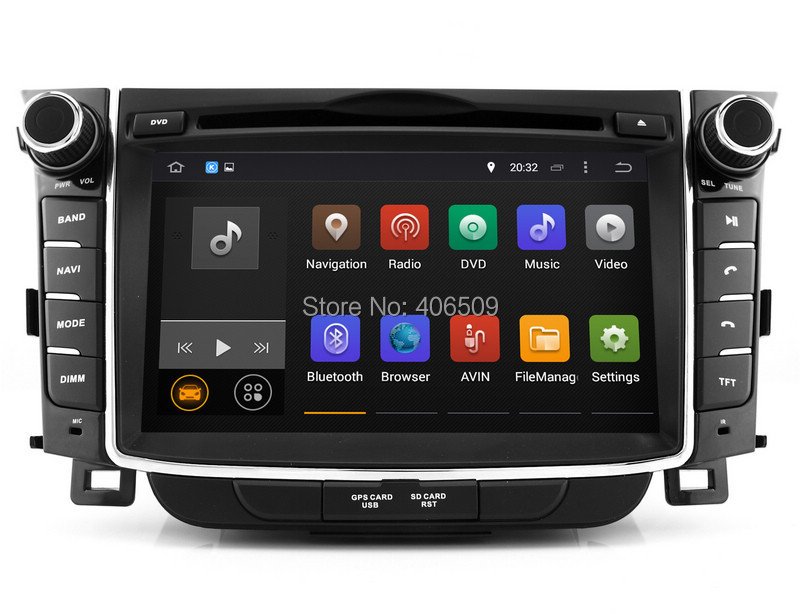 android 7 1 head unit car dvd player for hyundai i30. Black Bedroom Furniture Sets. Home Design Ideas