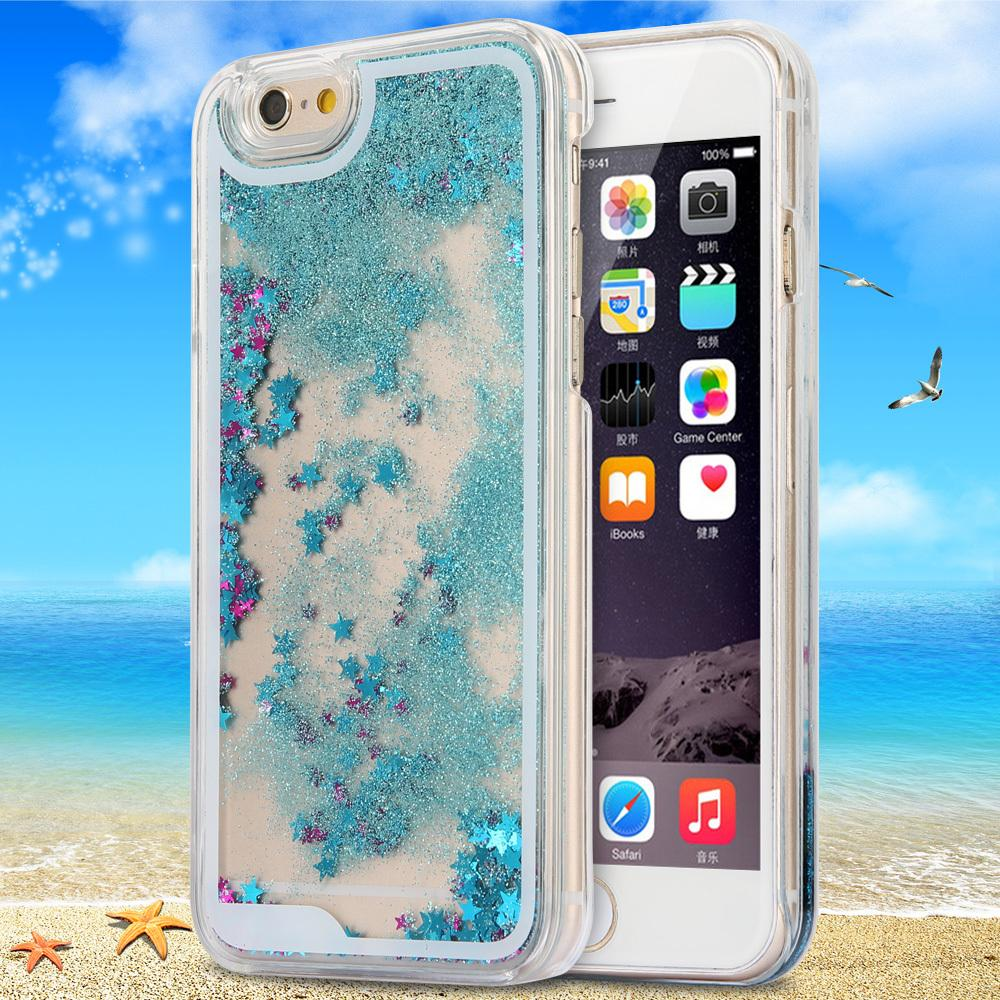 Dynamic Liquid Glitter Sand Quicksand Star iphone 5s case Crystal Clear phone Back Cover coque 5 - ShenZhen Green Sky Technology Ltd store