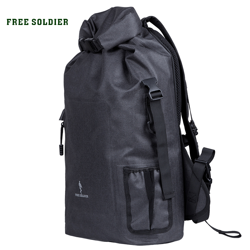 FREE SOLDIER outdoor sports camping hiking tactical military men s backpack climbing 600D oxford roll top