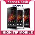 Разблокирована Оригинальный Мобильный Телефон samrtphone Sony Xperia L S36h S36 C2105 C2104 8MP WIFI GPS 3 Г Jelly Bean android 4.1 Freeship