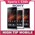 Teléfono móvil abierto original de sony xperia l s36h samrtphone s36 C2105 C2104 8MP WIFI GPS 3G android Jelly Bean 4.1 Freeship