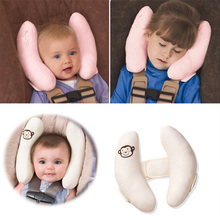 Baby Sleep Pillow Protection Car Seat Belt Pillow Protect Kids Head Shoulder Stroller Accessories random color YH-17