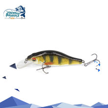 Купить с кэшбэком  1pc 7 cm 10.8g Mini Crankbait Floating Fishing Lure 3D eyes 3 colors Crank Bait Wobbler Hard Fishing Bass With 2 sliver hooks