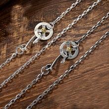Dijes para collar con colgante de plata de ley S925 para hombre, cadena larga de eslabones de plumas Takahashi, joyería con diseño de águila, 717