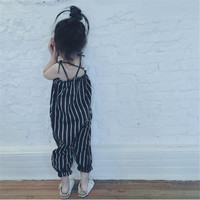 Kikikids Fashion Summer Baby Rompers Striped 1 5years Girls Romper Casual Toddler Girl Clothing