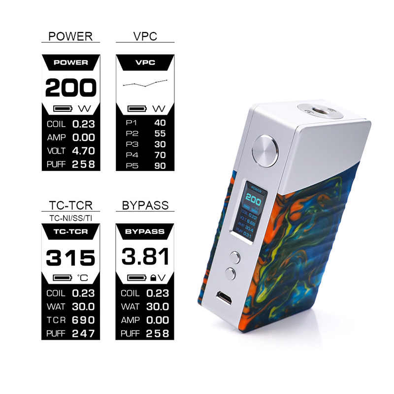 BigSALE original Geekvape Nova box mod 200w e-cig mod powered AS200 chipset for zeus dual RTA much vs drag mod vs DOVPO Topside