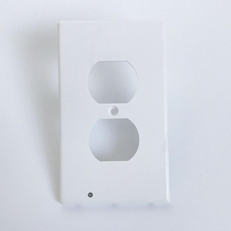 2017 New Design Wall Outlet Cover Plate Plug Cover With Led Lights White Hallway Bathroom Light Household