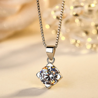 New Arrival Butterfly CZ flowers necklaces pendant fashion real 100% pure 925 sterling silver jewelry cute simple