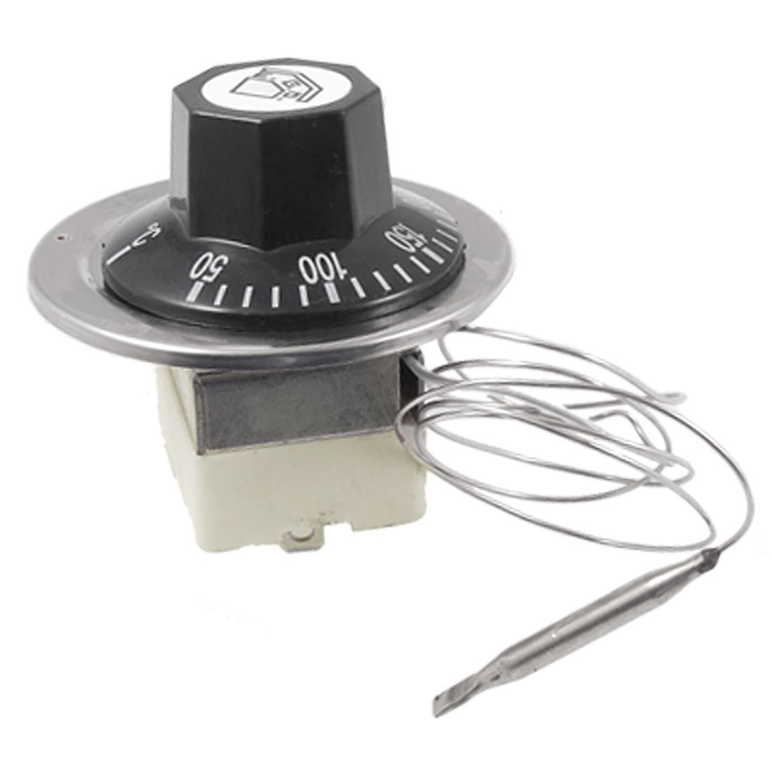 цена на MYLB-AC 16A 250V 50 to 300 Celsius Degree 3 Pin NC Capillary Thermostat for Electric Oven