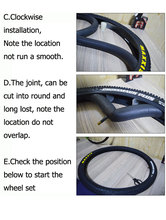 VXM 2PCS Mountain/Road Bike Tires liner Puncture proof 26/27.5 /29/700C mountain tyre protection pad bicycle Accessories