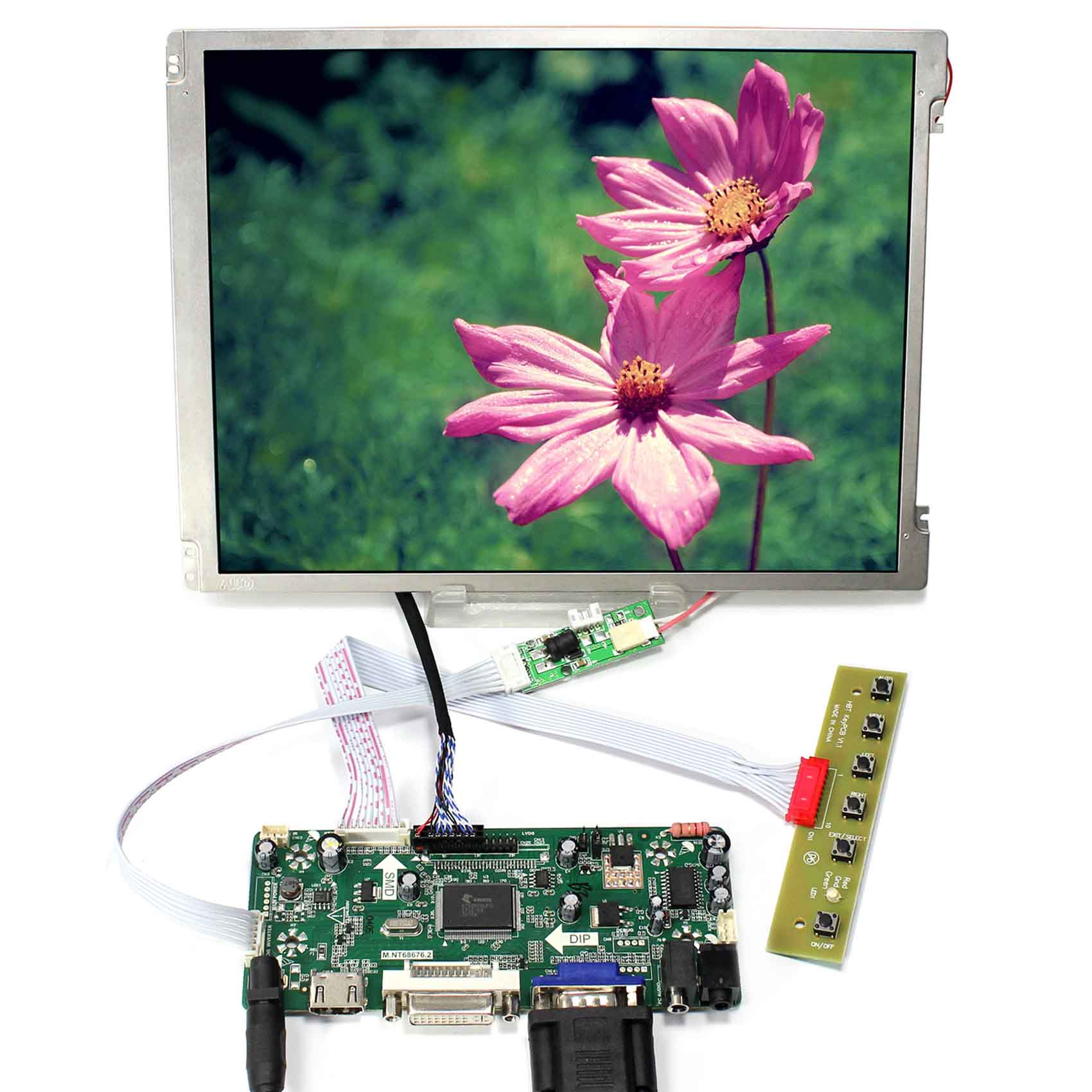 HDMI DVI VGA AUDIO LCD Control Board 10.4inch 800x600 LED Backlight Replace G104SN03-V1