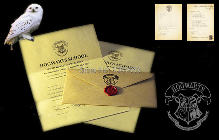 La fiesta de Halloween de regalo para los fanáticos de HP la carta de admisión en hogwarts para adultos y niños.