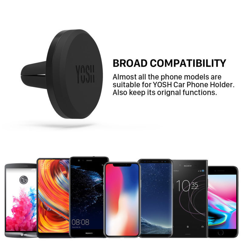 YOSH Magnetic Phone Holder On Car GPS Air Vent Mount Magnet Cell Phone Stand Holder For IPhone 7 8 X XS Samsung