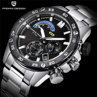 PAGANI PROJETO Marca de Luxo Novos Negócios Relógio de Quartzo de Aço Inoxidável 30 m Sports Chronograph Mens Relógios À Prova D' Água dropshipping