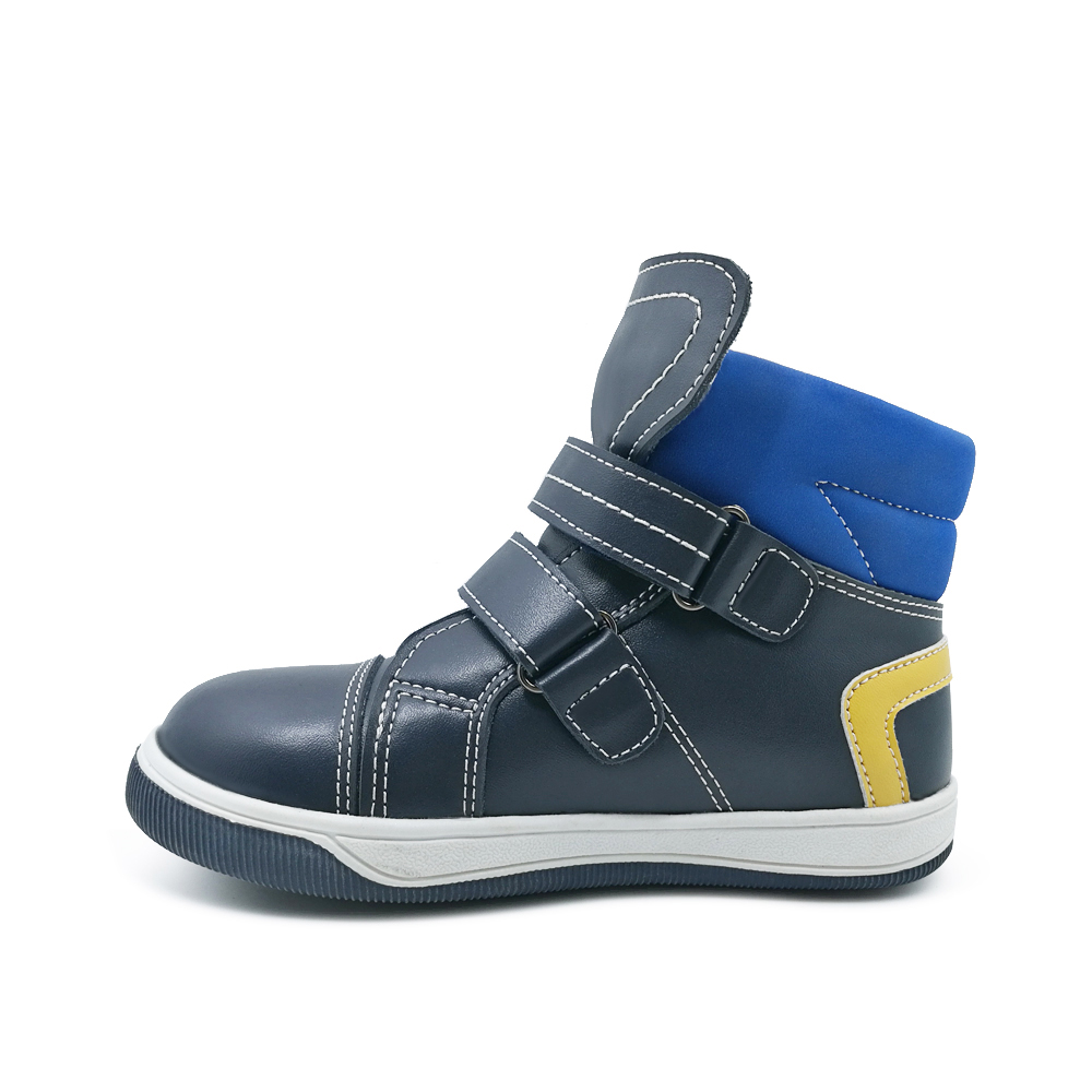 Ortoluckland Children Sport Shoes Boys Running Shoes Kids Leather Orthopedic Shoes Winter short Booties Sneakers Casual Boots