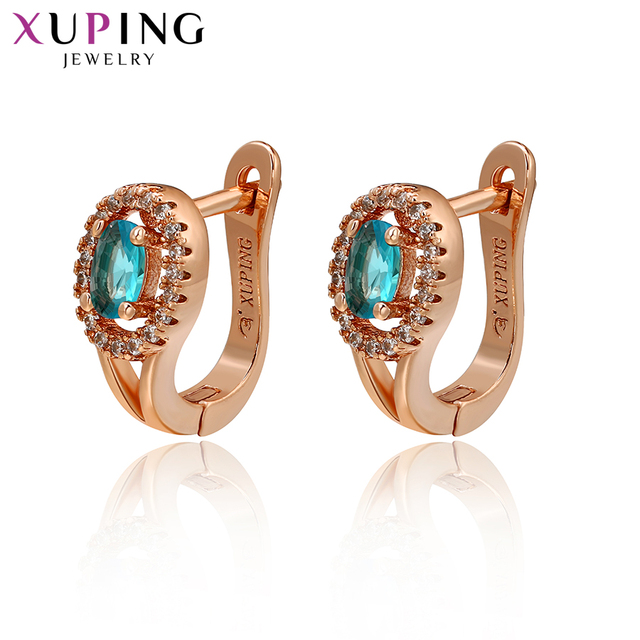 Xuping New Design Luxury Gold-coloe Plated Hoops Earrings Statement Jewelry for Women Valentine's Day Gifts S48-91973