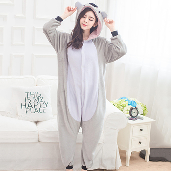 Adult Anime Grey Koala Kigurumi Onesies Costume For Women Men Animal Unicorn Blue Stitch Onepieces Sleepwear Home Cloths Girl