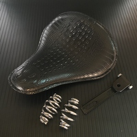 XYIVYG Leather Motorcycle 3 Spring Solo Bracket Seat For Chopper Bobber Custom