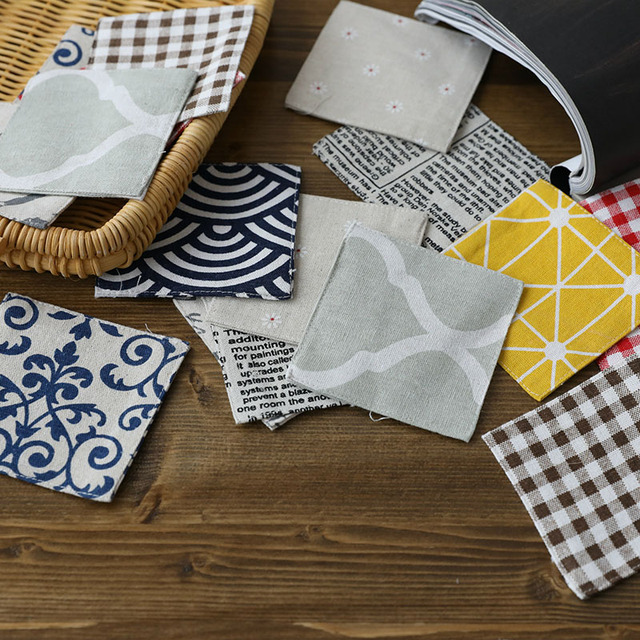 Linen Mats & Pads Coasters 4pcs/set Insulation Pads Size:10x10cm Cartoon Crochet Doilies 9colors Coaster Europe Style