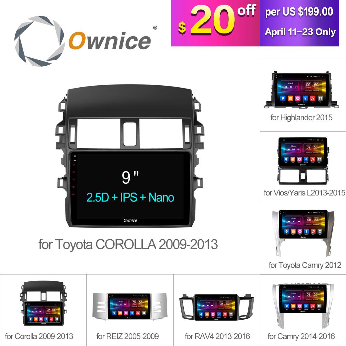 Ownice C500 + Android 6.0 8 Núcleo GPS Rádio Do Carro DVD Para Universal Toyota corolla CAMRY RAV4 REIZ Highlander VIOS YARiS L 2015 2016