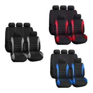 Image 2 - 9 mảnh thiết lập của thương mại nước ngoài bốn mùa phổ seat cover cushion xe lông chỗ ngồi bao gồm bộ universa phụ nữ đệm ghế màu đỏ